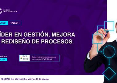 9no CURSO – TALLER: GESTIÓN, MEJORA Y REDISEÑO DE PROCESOS