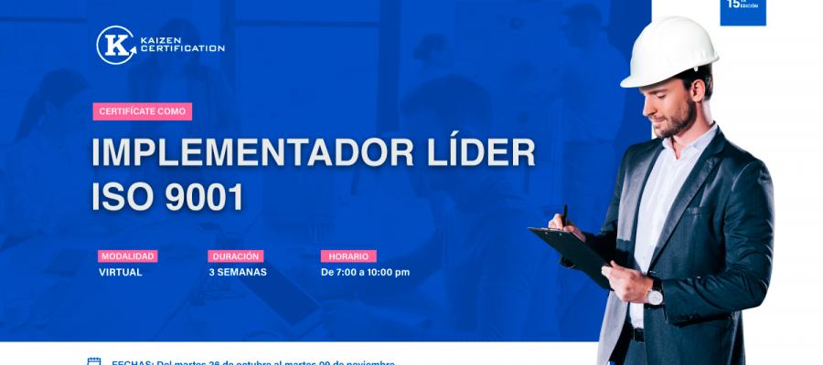 15vo Curso – Taller: INTERPRETACIÓN E IMPLEMENTACIÓN DEL SISTEMA DE GESTIÓN DE LA CALIDAD – ISO 9001+