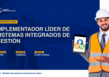 10mo CURSO – TALLER: INTERPRETACIÓN E IMPLEMENTACIÓN EN SISTEMAS INTEGRADOS DE GESTIÓN (ISO 9001 – ISO 14001 – ISO 45001)